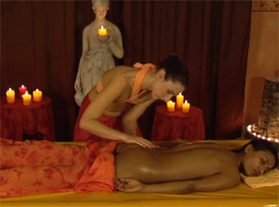 Ayurvedic massage sex in video